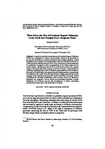 What Drives the Fate of Persistent Organic Pollutants in the ... - terrapub