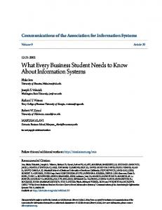 What Every Business Student Needs to Know About Information Systems