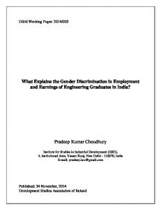 What Explains the Gender Discrimination in Employment - DSA Ireland
