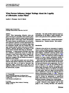 What Factors Influence Judges' Rulings About the ... - Springer Link
