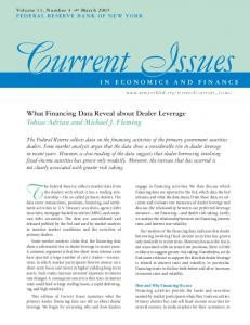 What Financing Data Reveal about Dealer Leverage