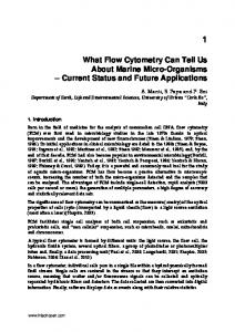 What Flow Cytometry Can Tell Us About Marine Micro ... - InTechOpen