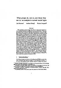 What groups do, can do, and know they can do: an ... - Semantic Scholar
