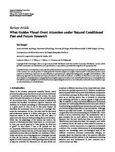 What Guides Visual Overt Attention under Natural Conditions? Past ...