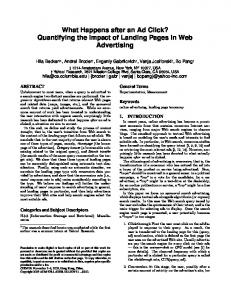 What Happens after an Ad Click? Quantifying the ... - CS Technion