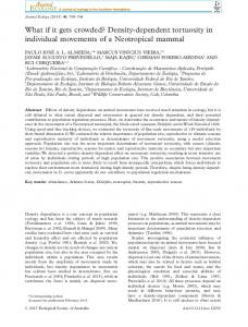 What if it gets crowded? Densitydependent tortuosity in individual ...