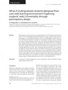 What if undergraduate students designed their own web learning ...