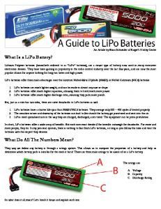 What Is a LiPo Battery? What Do All The Numbers Mean? - RC Aces