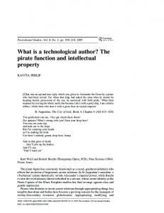 What is a technological author? The pirate function and intellectual ...