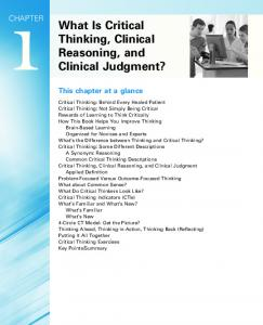 Findings To determine if clinical reasoning     SlideShare