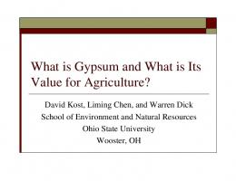 What is Gypsum and What is Its Value for Agriculture?