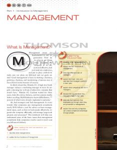 What Is Management? - Cengage Learning