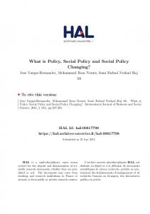 What is Policy, Social Policy and Social Policy ...
