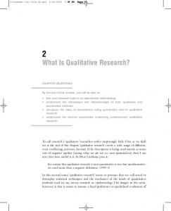 What Is Qualitative Research? - Sage