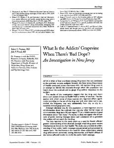 What Is the Addicts' Grapevine - Europe PMC