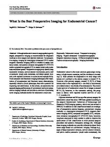 What Is the Best Preoperative Imaging for Endometrial Cancer? - MedViz