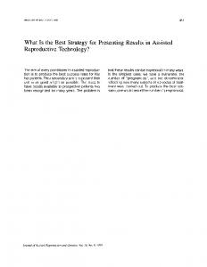 What Is the Best Strategy for Presenting Results in Assisted ...