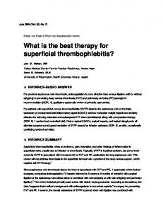 What is the best therapy for superficial ...