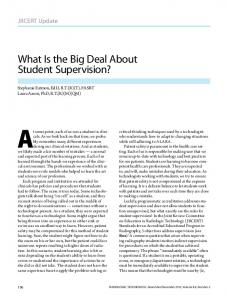 What Is the Big Deal About Student Supervision?