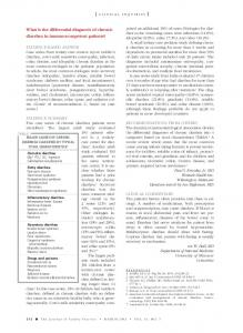 What is the differential diagnosis of chronic diarrhea ...