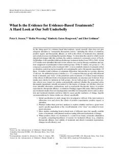 What Is the Evidence for Evidence-Based