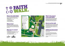 What is the Faith Walk? Who is it for? What does it contain? What is ...