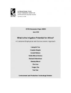 What Is the Irrigation Potential for Africa? A ... - AgEcon Search