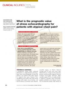 What is the prognostic value of stress echocardiography for patients ...
