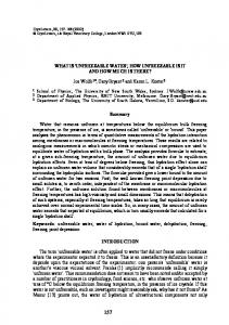 WHAT IS 'UNFREEZABLE WATER', HOW UNFREEZABLE IS IT AND ...