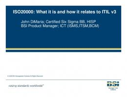 what it is and how it relates to ITIL V3