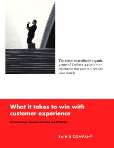What it takes to win with customer experience - Bain & Company