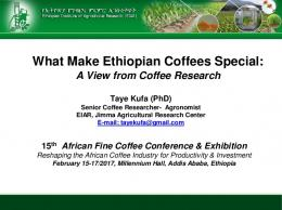 What Make Ethiopian Coffees Special