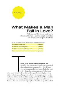 What Makes a Man Fall in Love?