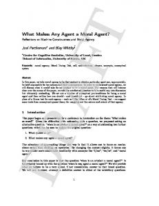 What Makes Any Agent a Moral Agent?