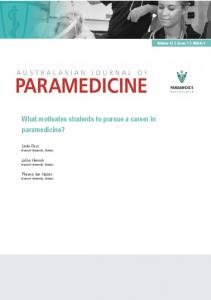 What motivates students to pursue a career in paramedicine?