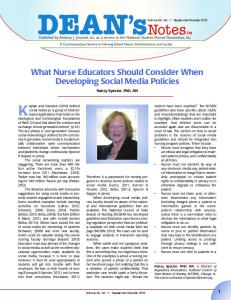 What Nurse Educators Should Consider When Developing Social ...