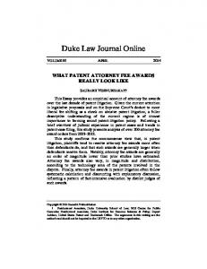 What Patent Attorney Fee Awards Really Look Like - Duke Law ...
