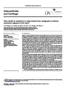 What should be considered in using standard knee radiographs to ...