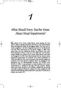 What Should Every Teacher Know About Visual Impairments?