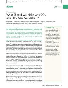 What Should We Make with CO2 and How Can We Make It?