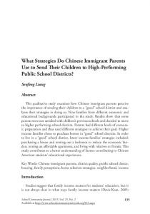 What Strategies Do Chinese Immigrant Parents Use to Send ... - Eric