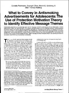 What to Convey in Antismoking Advertisements for Adolescents: The