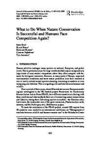 What to Do When Nature Conservation Is Successful and Humans ...