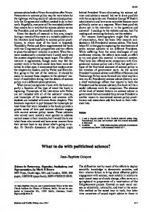 What to do with politicized science?