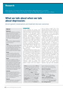 What we talk about when we talk about depression - Semantic Scholar