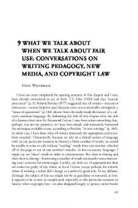 What We Talk About When We Talk About Fair Use