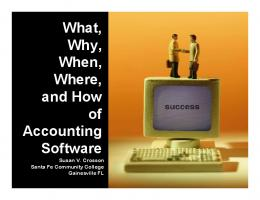 What, Why, When, Where, and How of Accounting Software