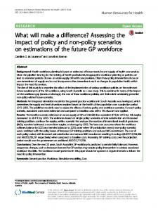 What will make a difference? Assessing the impact ... - Semantic Scholar