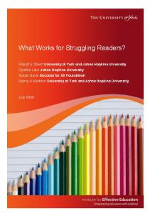 What Works for Struggling Readers?