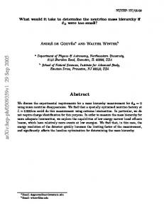 What would it take to determine the neutrino mass hierarchy if $\theta_ ...